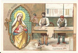 CHROMO ANCIENNE  - LES SAINTS - SAINTE MARIE MADELEINE - TBE - Chromos