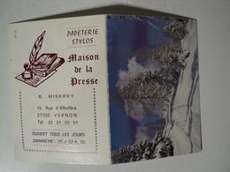 CALENDRIER / CARTE DE VISITE MAISON DE LA PRESSE A VERNON. 1990 B. MISEREY AU 19 RUE D ALBUFERA. - Petit Format : 1981-90