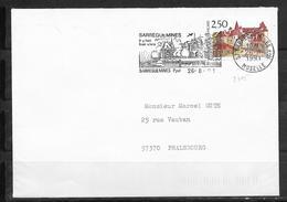 LOT 1810372 - N° 2705 SUR LETTRE DE SARREGUEMINES DU 26/08/91 - FLAMME - Marcophilie (Lettres)