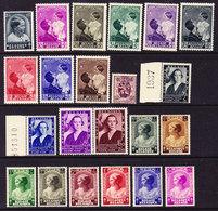 BELGIQUE, ANNEE 1937, 24 VALEURS + 1 BLOC, ** MNH. (1937) - Bélgica