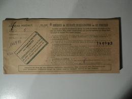 VIEUX CARNET DE CHEQUES POSTAUX. 1957 CHEQUES DE RETRAIT / D ASSIGNATION OU AU PORTEUR. CC ROUEN. LA PROPRIETAIRE ETAIT - Assegni & Assegni Di Viaggio