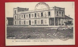 56 - BELLE-ÎLE-EN-MER - HOTEL DE L'APOTHICAIRERIE -  CACHET DE LA GROTTE - Belle Ile En Mer