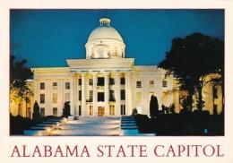 Alabama Montgomery State Capitol At Night - Montgomery