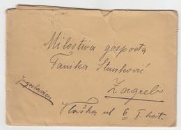 Austria Letter Travelled 1921 Wien To Zagreb B181020 - Cartas