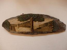 Très Ancienne Peinture Sur Plaque De Bois (l'arbre En Relief) 40cm/13cm Sur Saint-Valéry-en-Caux (76). - Other