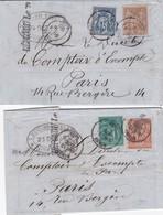 GARD - Cachet TYPE 18 De NÎMES Sur 2 Lettres Affranchies Au Type Sage - - Poststempel (Briefe)