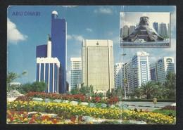 United Arab Emirates Abu Dhabi 3 Scene Abu Dhabi Picture Postcard View Card U A E AS PER SCAN - Dubai