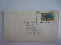 Bahamas 1987 ? Brief Lettre From Governors Harbour To South Africa Special Postmark Fish Vis Poisson Yv 638 - Bahamas (1973-...)