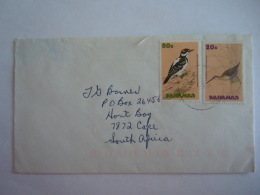 Bahamas 1991 Brief Lettre To South Africa Birds Oiseaux Vogels Yv 732 737 - Bahamas (1973-...)