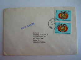 Bolivië Bolivia 1974 Brief Lettre Pour Checoslovaquia Timbre Armoiries Escudo National Wapenschild Yv PA 303 - Bolivie