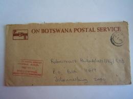 On Botswana Postal Service 1985 Lettre Brief Pour RSA - Botswana (1966-...)
