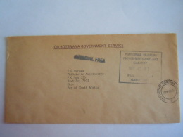 On Botswana Governement Service 1990 Gaborone Lettre Brief Pour RSA - Botswana (1966-...)