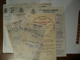 LOT DE 7 DOCUMENTS ETABLISSEMENTS GEORGES LAURENT. 1958 / 1959. ORCHIES. NORD. 59 CARTE DE VISTE LAURENT ET MARTIN CULT - Agriculture