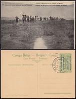 Congo Belge 1918 - Entier Postal Nr. 27 - Est Africain Allemand-Occupation Belge-Colonne. Ref. (DD)  DC0316 - Congo Belge - Autres