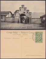 Congo Belge 1918 - Entier Postal Nr. 34 - Est Africain Allemand-Occupation Belge- La Caserne. Ref. (DD)  DC0323 - Congo Belge - Autres