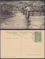 Congo Belge 1918 - Entier Postal Nr. 37 - Est Africain Allemand-Occupation Belge- Les Marais. Ref. (DD)  DC0326 - Congo Belge - Autres