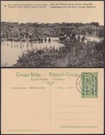 Congo Belge 1918 - Entier Postal Nr. 45 -Est Africain Allemand-Occupation Belge- Pont De La Fortune  Ref. (DD)  DC0334 - Congo Belge - Autres
