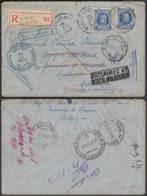Belgique 1930 - Lettre Recommandée Avec Cob Nr. 2572 De Marché-Les-Dames Vers Melbourne Ref. (EB) DC-0342 - Belgium