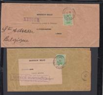 Belgique 1917 - Timbre Cob Nr.: 137 Sur 2 Bandes Journaux. 1ère. Guerre (x2) .  Ref. (EB) DC-0344 - Belgique