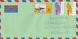 GOOD UAE Postal Cover To ESTONIA 2018 - Good Stamped: Qasr Al Hosn ; Bird - United Arab Emirates