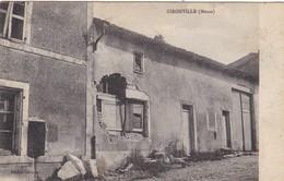 55. GIRONVILLE. CPA. RARETÉ. MAISON BOMBARDÉE. TEXTE ANNÉE 1918 - Other Municipalities