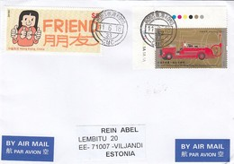 GOOD HONG KONG Postal Cover To ESTONIA 2018 - Good Stamped: Fire Service ; Friend - 1997-... Chinese Admnistrative Region