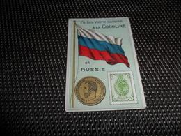 Chromo ( 6744 ) Usines De Bruyn Termonde Dendermonde - Pièce De Monnaie  Timbre  Drapeau - Russie  Rusland - Chromos