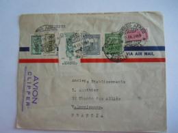 Colombie Colombia 1949 Lettre De Bogota Pour Valenciennes Frances - Colombia