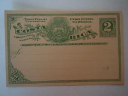 Costa Rica Entier Postal Stationary Carte Postale Tarjeta Postal PWS 2 Centavos - Costa Rica