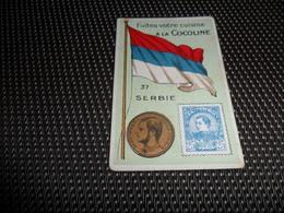 Chromo ( 6750 ) Usines De Bruyn Termonde Dendermonde - Pièce De Monnaie  Timbre  Drapeau - Serbie  Servië - Kaufmanns- Und Zigarettenbilder