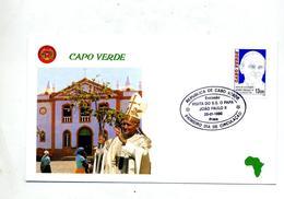 Lettre Cachet Fdc Visite Du Pape - Cap Vert