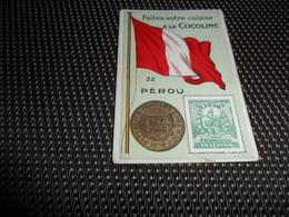Chromo ( 6754 ) Usines De Bruyn Termonde Dendermonde - Pièce De Monnaie  Timbre  Drapeau - Perou  Peru - Trade Cards