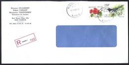 Cob 2697 Pie Bavarde +2850 Fleur Geranium Sur Lettre Recommandé  Namur - Bélgica