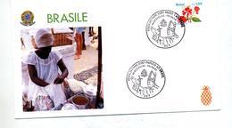 Lettre Cachet Maceio Visite Du Pape - Brésil