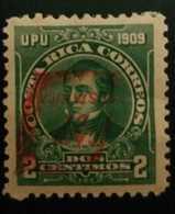 O) 1910 COSTA RICA, CAFE DE COSTA RICA- COFFEE -UPU -JUAN MORA FERNANDEZ SCT 111D INVERTED OVERPRINT IN RED, XF - Costa Rica
