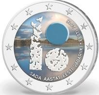 ESTONIE 2018 - 2 EUROS - INDEPENDANCE - COULEUR - FARBE - Estonie