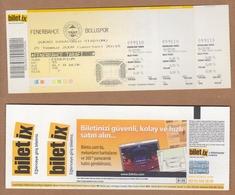 AC - FENERBAHCE Vs BOLUSPOR FOOTBALL - SOCCER TICKET 24 JULY 2009 - Tickets D'entrée