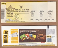 AC - BEKO ALL - STAR 2008 BASKETBALL TICKET 07 MARCH 2008 - Tickets D'entrée