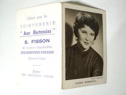 CALENDRIER 1959 SOPHIE DESMARETS. SAINTE GENEVIEVE DES BOIS. ESSONNE. 1991 OFFERT PAR LA TEINTURERIE AUX HORTENSIAS S. - Calendriers