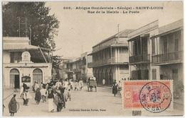 Senegal French Equatorial Africa - St. Louis Rue De La Mairie & La Poste Unused PPC With 1 Stamp 7dec1922 - Cameroon