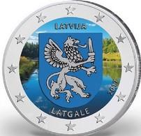 LETTONIE 2017 - 2 EUROS - LATGALE - COULEUR - FARBE - Lettonie