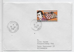 Haute Volta 1984; Chess Schaken;used Cover - Upper Volta (1958-1984)