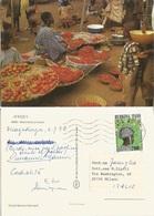 Burkina Faso Ouagadougou 4jul1972 PPC Pigments Market In Africa To Italy With Dance Costumes F280 - Burkina Faso
