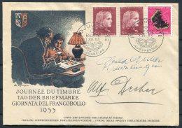 1953 Switzerland Pro Juventute Bern FDC Ausgebetag, Journee Du Timbre Cover - Pro Juventute