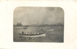 Roeiwedstrijd , Rowing Game / Match / Contest (Originele Fotokaart / Real Photo PostCard / RPPC ) 2 X Scan - Roeisport