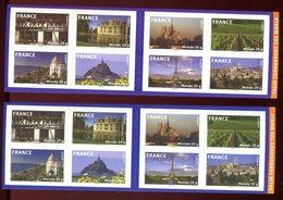 Variété - N°Yvert BC 329 - 1 Carnet Fond Bleu + 1 Fond Violet - Ref V623 - Variétés Et Curiosités