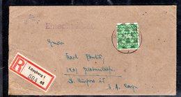AM.&Britische-Zone, Eingeschriebener Fernbrief Mit EF. Mi.-Nr. 68 II, Mit AK-St. - Bizone