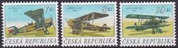 1996,  Tschechische Republik,Ceska 127/29, Alte Flugzeuge. MNH ** - Tschechische Republik