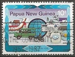 1983 10t Mail Transport, Used - Papoea-Nieuw-Guinea