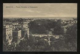 Italia. Liguria. Genova. *Piazza Corvetto E L'Acquasola* Ed. T. Dell'Avo Nº 2-4162. Nueva. - Genova (Genoa)